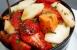 Ensalada de fresas, pera y papaya