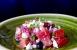 Ensalada de sandía, feta y cebolla roja