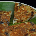 Tortilla de patatas y aceitunas negras