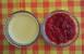 Flan de queso con mermelada de tomate
