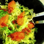 Endive, khakis and bacon salad