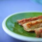 Filetes de huerta rellenos de jamón y queso