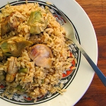 Chicken and artichokes rice