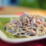 Spaghetti with tuna and breadcrumbs