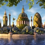 London&#8217;s fruit and vegetables skyline