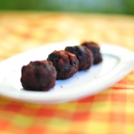 Blood sausage and apple truffles