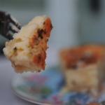 'Flaó' ibicenco de queso y hierbabuena