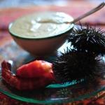 (Español) Crema de alcachofas con carabineros