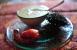 Crema de alcachofas con carabineros