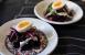 Ensalada de remolacha, boquerones y huevo