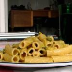 Pasta con puerro y anchoas