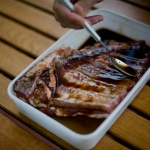 (Español) Costillas de cerdo con salsa de soja y miel