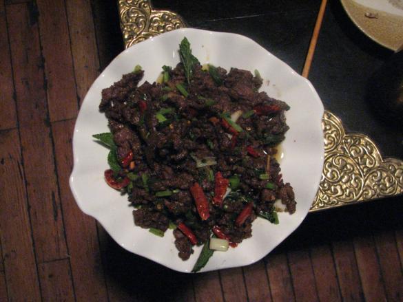 carne con hierbabuena