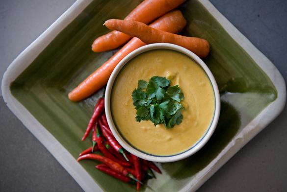 crema coco zanahoria cilantro