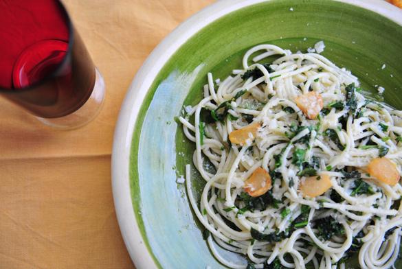 espaguetis finas hierbas