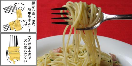 tenedor para pasta