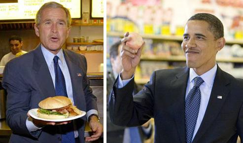 bush-obama-comida