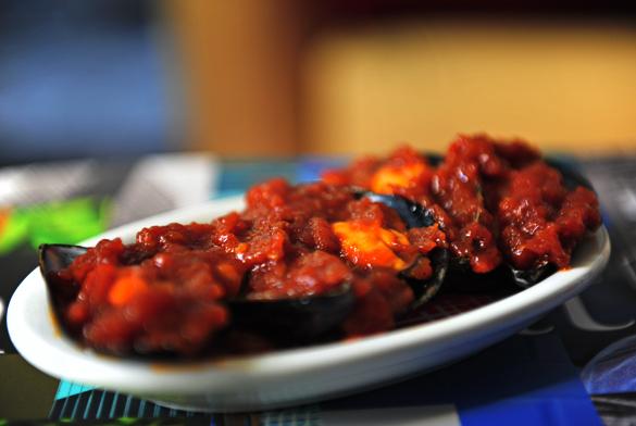mejillones salsa brava picante