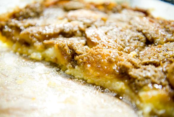 pastel manzana crema fresca