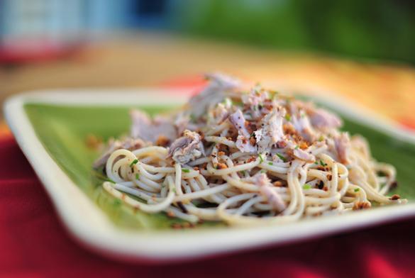 espaguetis atun migas