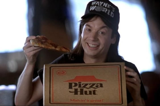 waynes world pizza