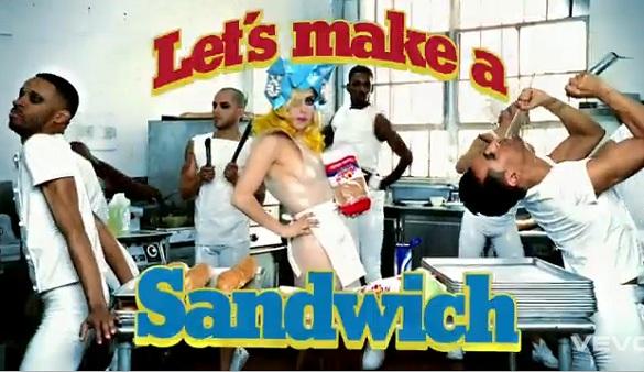 lady gaga sandwich