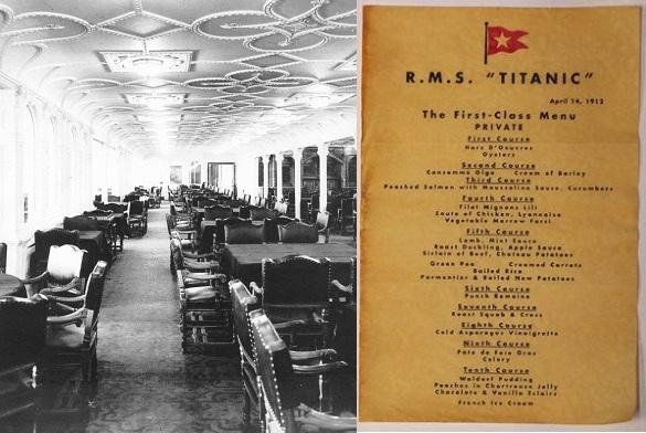 cena titanic home