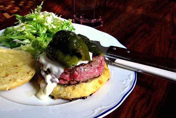 hamburguesa pimiento verde