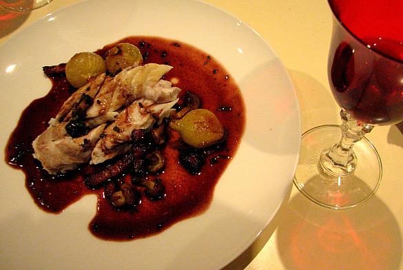 lubina salsa bordelesa vino tinto
