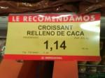 croissant relleno caca