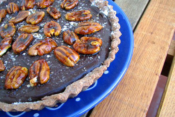 tarta chocolate nueces sal